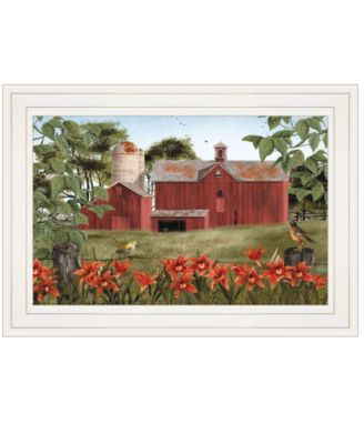 """Summer Days by Billy Jacobs, Ready to hang Framed Print, White Frame, 15"""" x 11"""""""