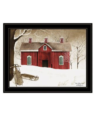 """New Fallen Snow by Billy Jacobs, Ready to hang Framed Print, Black Frame, 27"""" x 21"""""""