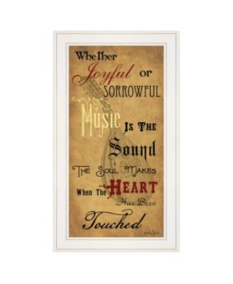 """Sound of the Soul by Billy Jacobs, Ready to hang Framed Print, White Frame, 15"""" x 27"""""""