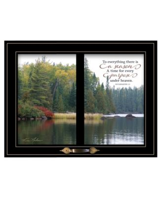 """To Everything There is a Season by Kim Norlien, Ready to hang Framed Print, Black Window-Style Frame, 19"""" x 15"""""""
