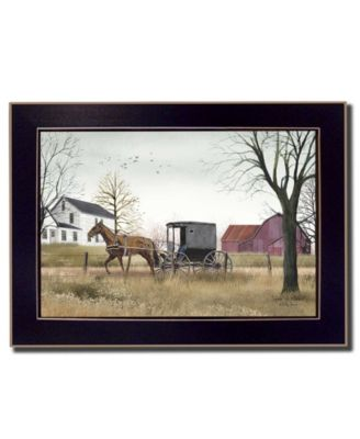 Goin' to Market By Billy Jacobs, Printed Wall Art, Ready to hang, Black Frame, 14