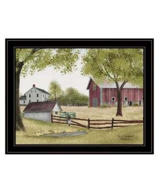 """The Old Spring House by Billy Jacobs, Ready to hang Framed Print, Black Frame, 27"""" x 21"""""""