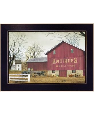 """Antique Barn By Billy Jacobs, Printed Wall Art, Ready to hang, Black Frame, 14"""" x 10"""""""