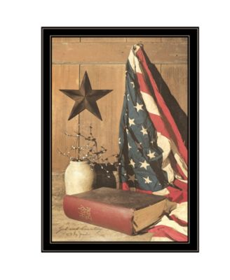 """God and Country by Billy Jacobs, Ready to hang Framed Print, Black Frame, 23"""" x 33"""""""