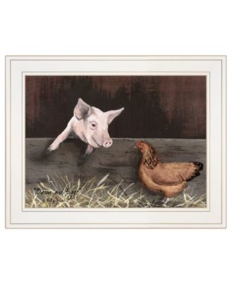 """Bacon Eggs by Billy Jacobs, Ready to hang Framed Print, White Frame, 19"""" x 15"""""""