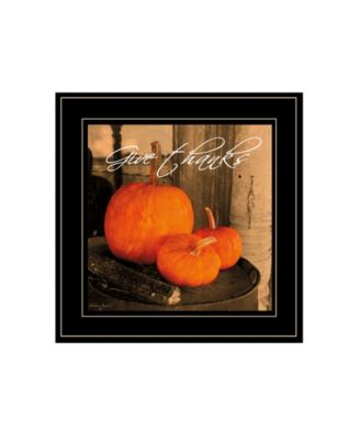 """Give Thanks by Anthony Smith, Ready to hang Framed Print, Black Frame, 15"""" x 15"""""""