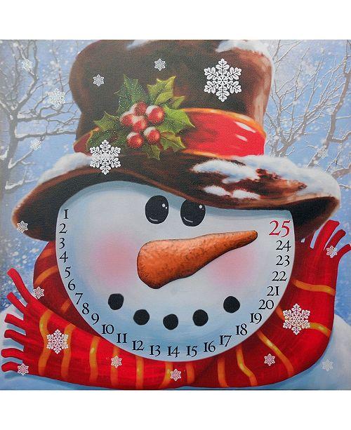 "Trendy Decor 4U Trendy Decor 4U Lighted Canvas: Snowman Advent Calendar, 16"" x 20"""