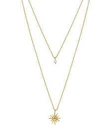 Layered Starburst Crystal Necklace