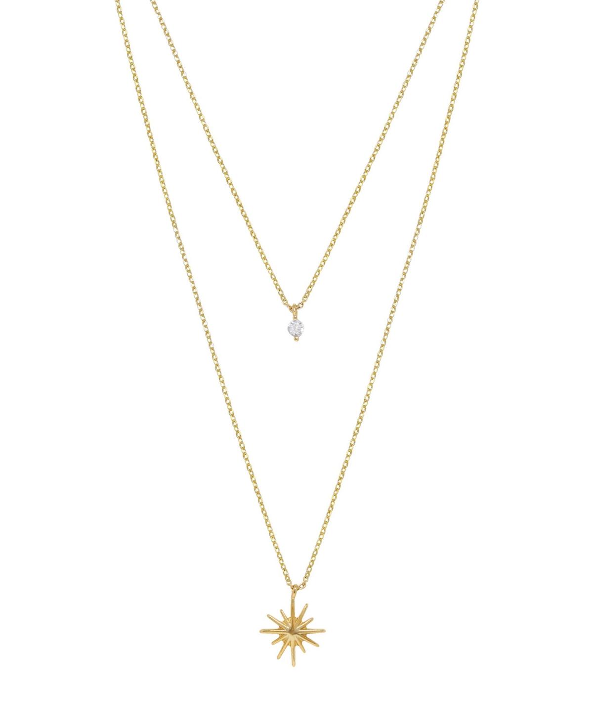 Ettika Layered Starburst Crystal Necklace