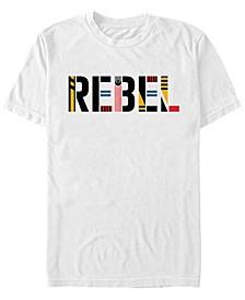 Men's Episode IX Rise of Skywalker Rebel Logo Text T-shirt