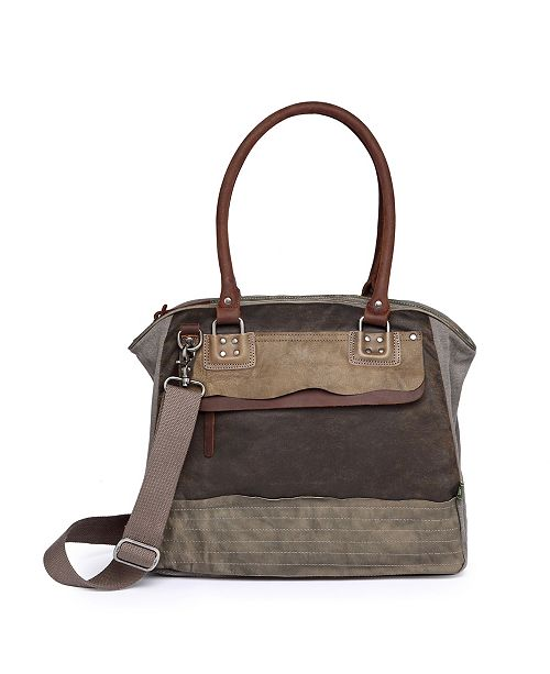 TSD BRAND Tapa Canvas Satchel Bag