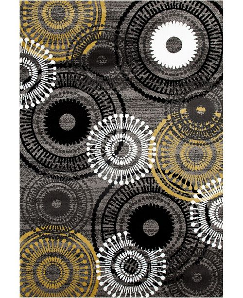 Main Street Rugs Home Montane Mon119 Gray/Yellow Area Rug Collection