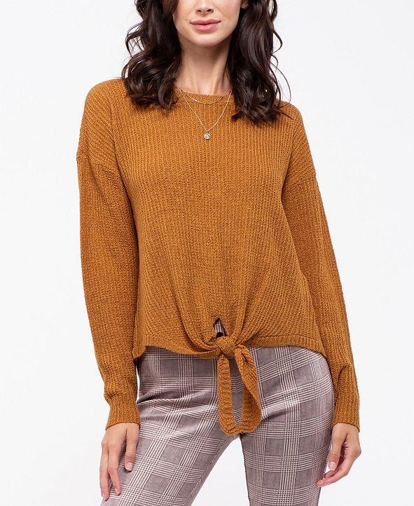 Blu Pepper Tie-Front Knit Sweater