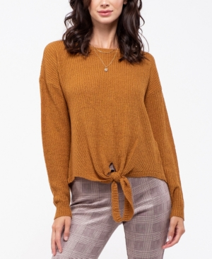 Blu Pepper Tie-Front Knit Sweater