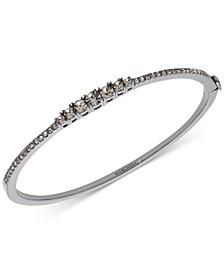 Hematite-Tone Crystal Bangle Bracelet