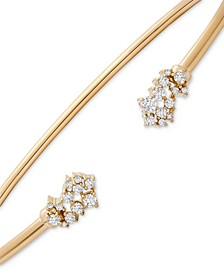 Diamond Scatter Cluster Cuff Bangle Bracelet (1/4 ct. t.w.) in 10k Gold