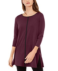 Pipe-Trim Tunic Top, Created For Macy's