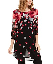 Petite Printed 3/4-Sleeve Tunic, Created For Macy's