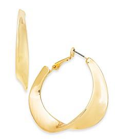"Gold-Tone Medium Sculptural Hoop Earrings, 1.75"", Created For Macy's"