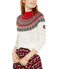 Fair Isle Mock-Neck Ski Sweater