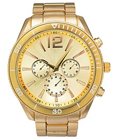 I.N.C. Men's Gold-Tone Bracelet Watch 48mm