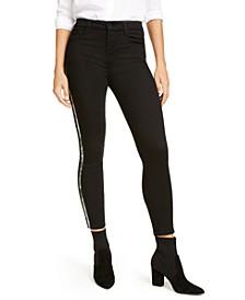 Snakeskin Stripe Skinny Jeans