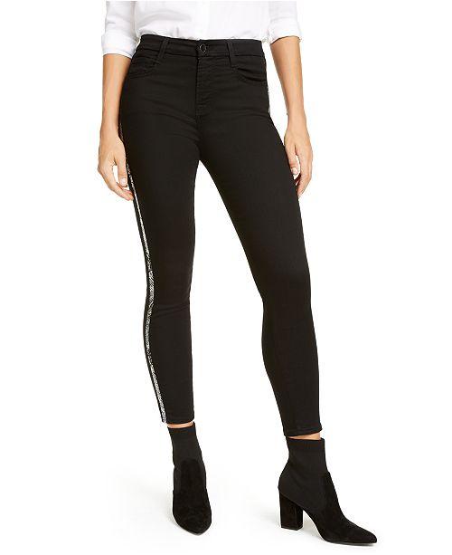 Jen7 by 7 For All Mankind Snakeskin Stripe Skinny Jeans