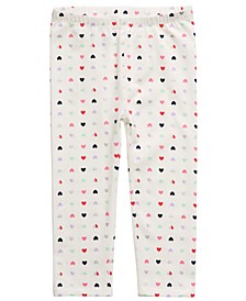 Toddler Girls Heart-Print Leggings, Created For Macy's