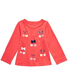 Toddler Girls Cotton Long-Sleeve Cherry T-Shirt, Created For Macy's