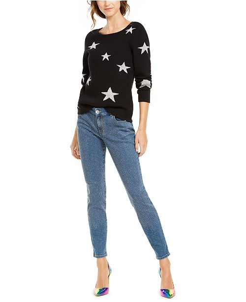 INC International Concepts INC Star Sweater & Embellished Skinny Jeans, Created For Macy's
