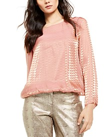 Metallic Bubble Top, Created For Macy's