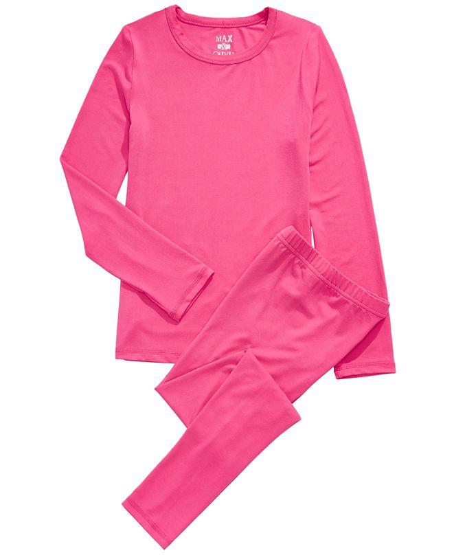 Max & Olivia Toddler Girls 2-Pc. Base Layer Top & Pants Set