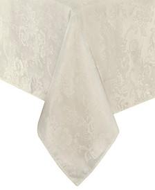 "Elrene Poinsettia Jacquard Holiday Tablecloth - 60"" x 144"""