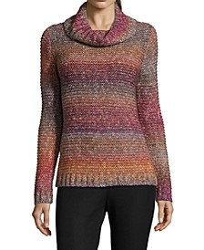 Cowl-Neck Ombré Sweater