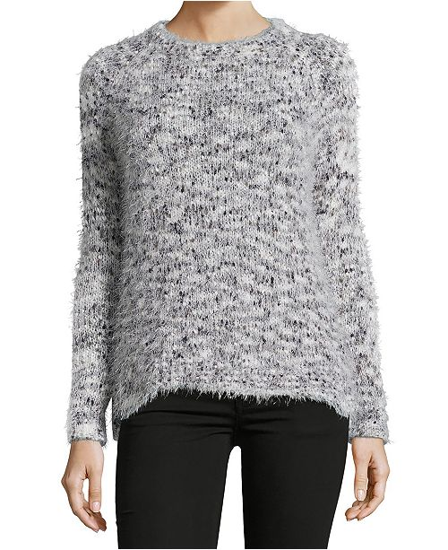 John Paul Richard Crewneck Eyelash Sweater