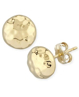 """3//4/"""" Round Button Stud Fashion Metal Texture Earrings Women Post"""