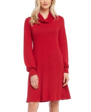 Karen Kane Dresses COWLNECK SWEATER DRESS
