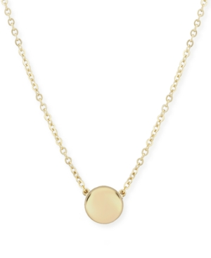 Flat Ball Necklace Set in 14k Gold (7mm)