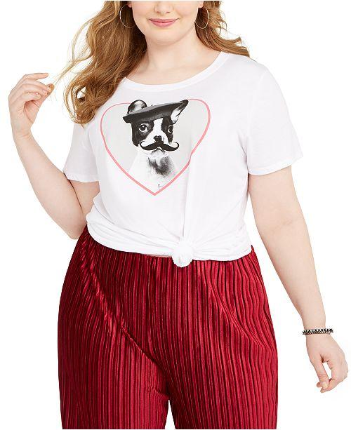 Modern Lux Trendy Plus Size French Bulldog Graphic T-Shirt