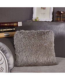 "Decorative Shaggy Pillow with Lurex 18"" x 18"""