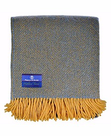 Highland Tweed Herringbone Pure New Wool Throw