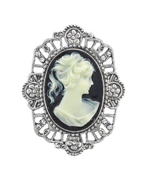 Downton Abbey Oval Cameo Pin