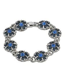 Crystal Enamel Link Clasp Bracelet