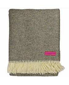 Wool Herringbone Throw