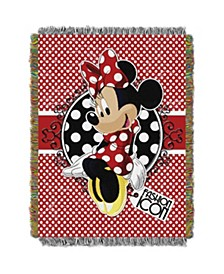 Minnie Mouse Polka Dot Tapestry Throw