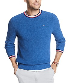Men's Geneva Regular-Fit Tipped Ribbed-Knit Sweater