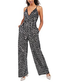 Juniors' Sequined Jumpsuit