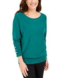 Studded Dolman-Sleeve Sweater, Created For Macy's
