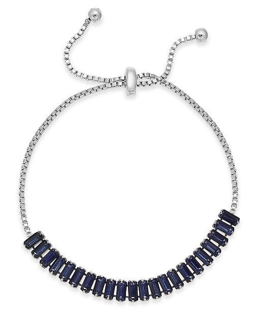 INC International Concepts INC Baguette-Crystal Slider Bracelet, Created For Macy's