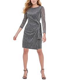 Petite Metallic Sheath Dress